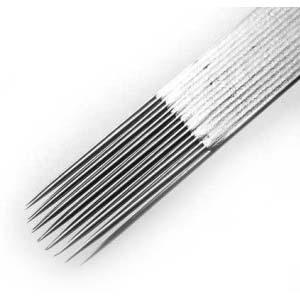 Tieňovacie ihly ploché v dvoch radoch do poloblúku